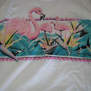 Vintage Flamingo Tropics Tank Top, XL